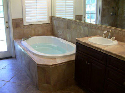 A bathroom, remodel is a service this residential contractor offers Santa Clarita Valley / San Fernendo Valley / Antelope Valley residents. It can include tubs, counters, floors, tile, cabinets and much more